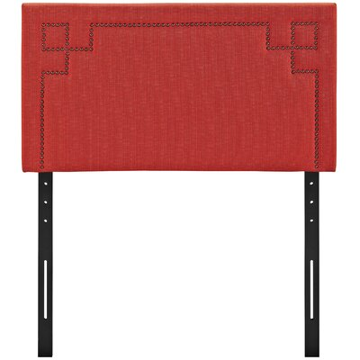 Kerley Upholstered Panel Headboard Size: Twin, Upholstery: Atomic Red