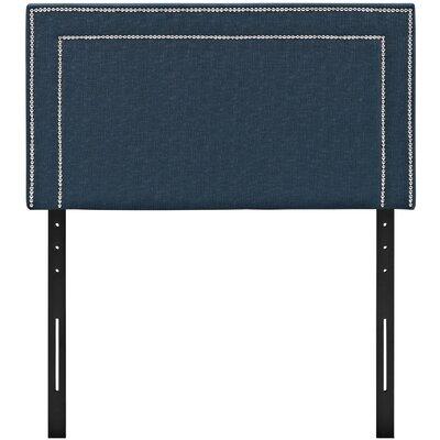 Eyre Twin Upholstered Wood Panel Headboard Upholstery: Azure