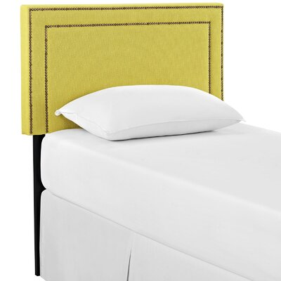 Eyre Twin Upholstered Wood Panel Headboard Upholstery: Sunny