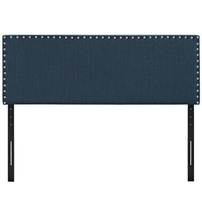Preiss Queen Upholstered Panel Headboard Upholstery: Navy Blue