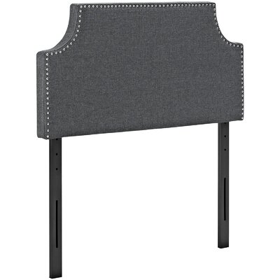 Preciado Solid Wood Upholstered Panel Headboard Size: Twin, Upholstery: Gray