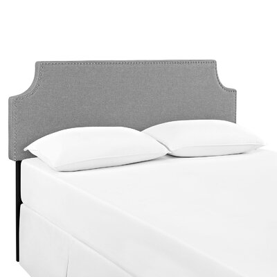 Preciado Solid Wood Upholstered Panel Headboard Size: Queen, Upholstery: Light Gray