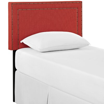 Eyre Twin Upholstered Wood Panel Headboard Upholstery: Atomic Red