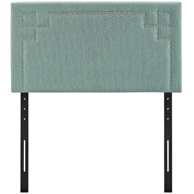 Josie Upholstered Panel Headboard Size: Twin, Upholstery: Laguna