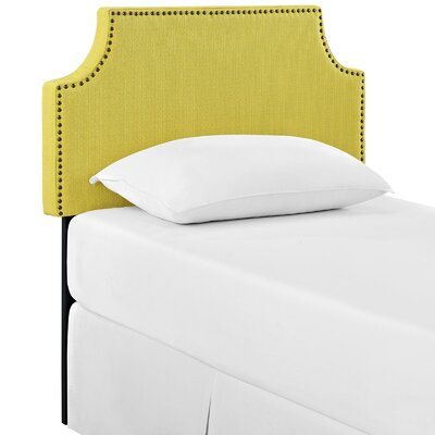 Preciado Solid Wood Upholstered Panel Headboard Size: Twin, Upholstery: Sunny