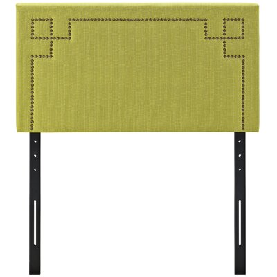 Kerley Upholstered Panel Headboard Size: Twin, Upholstery: Wheatgrass