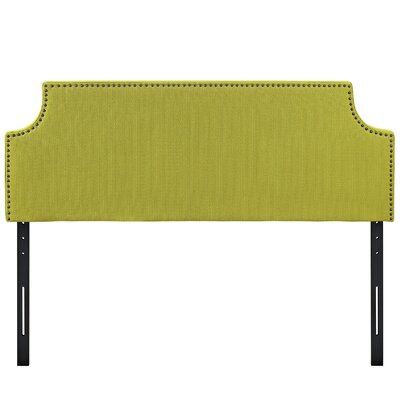 Preciado Solid Wood Upholstered Panel Headboard Upholstery: Wheatgrass, Size: Queen