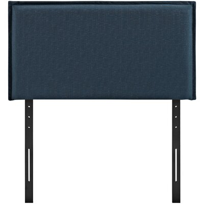 Chmura Upholstered Panel Headboard Size: Twin, Upholstery: Azure