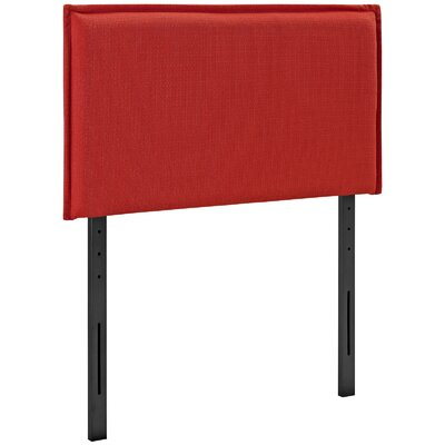 Chmura Upholstered Panel Headboard Size: Twin, Upholstery: Atomic Red