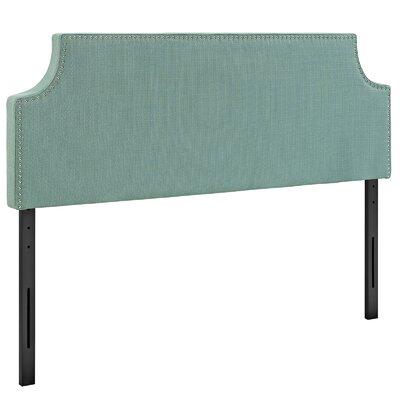Preciado Solid Wood Upholstered Panel Headboard Size: Queen, Upholstery: Laguna