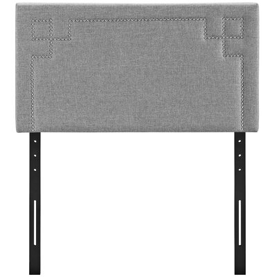 Kerley Upholstered Panel Headboard Size: Twin, Upholstery: Light Gray
