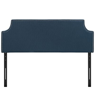 Preciado Solid Wood Upholstered Panel Headboard Size: Queen, Upholstery: Azure