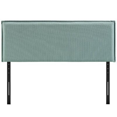 Camille Upholstered Panel Headboard Upholstery: Laguna, Size: Queen