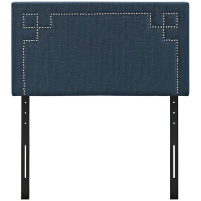 Josie Upholstered Panel Headboard Size: Twin, Upholstery: Azure
