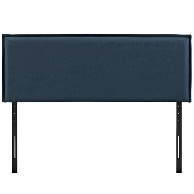 Camille Upholstered Panel Headboard Upholstery: Azure, Size: Queen
