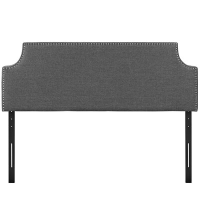 Laura Upholstered Panel Headboard Upholstery: Gray, Size: Queen
