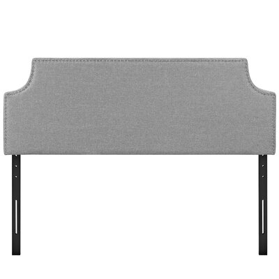 Laura Upholstered Panel Headboard Upholstery: Light Gray, Size: Queen