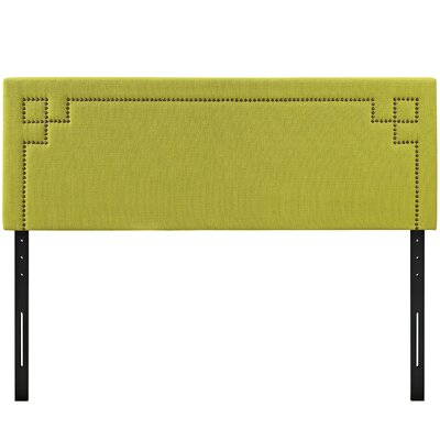 Josie Upholstered Panel Headboard Upholstery: Wheatgrass, Size: Queen