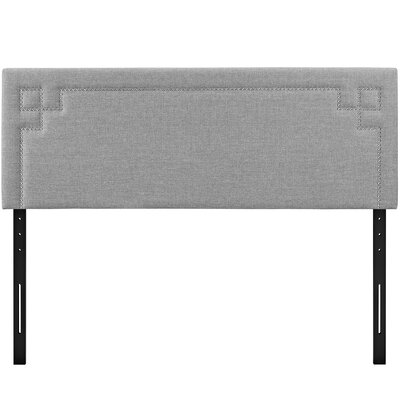 Josie Upholstered Panel Headboard Upholstery: Light Gray, Size: Queen