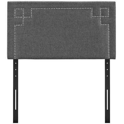 Kerley Upholstered Panel Headboard Size: Queen, Upholstery: Gray