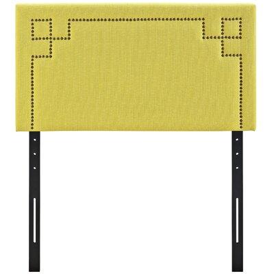 Josie Upholstered Panel Headboard Size: Twin, Upholstery: Sunny