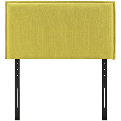 Camille Upholstered Panel Headboard Size: Twin, Upholstery: Sunny