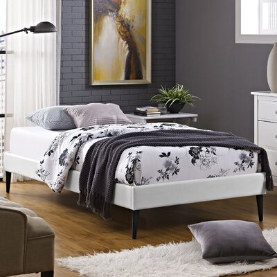 Platform Bed Size: Twin, Finish: White