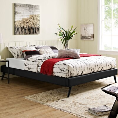 Helen Platform Bed Color: Black