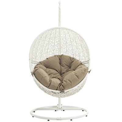 Cloak Swing Chair Color: White/Mocha