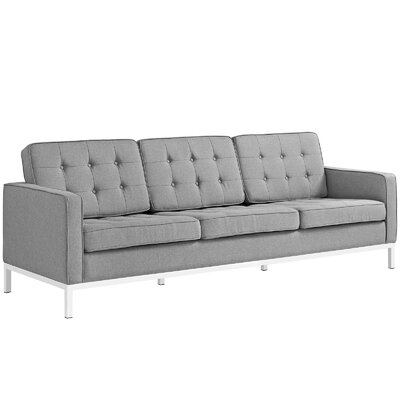 Gayatri 3 Piece Living Room Set Upholstery: Light Gray