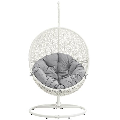 Cloak Swing Chair Color: White/Gray
