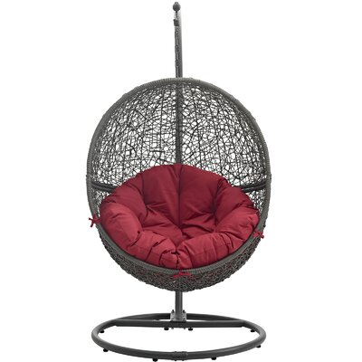 Cloak Swing Chair Color: Gray/Red