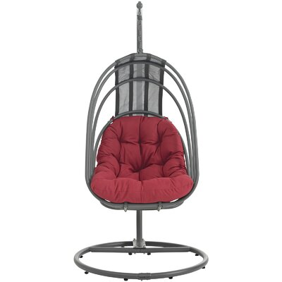 Whisk Swing Chair with Stand Color: Red