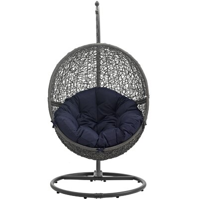 Cloak Swing Chair Color: Gray/Navy