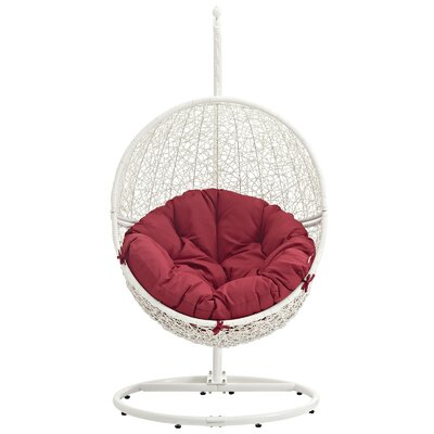 Cloak Swing Chair Color: White/Red