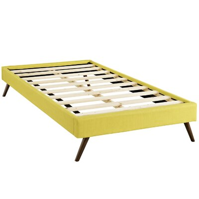 Helen Platform Bed Size: Twin, Color: Sunny