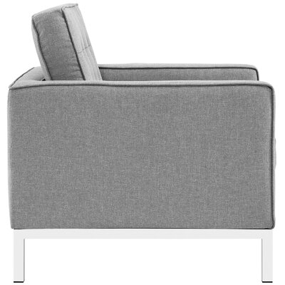 Gayatri 2 Piece Living Room Set Upholstery: Light Gray