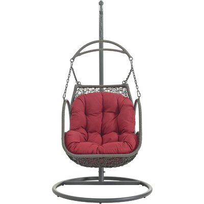 Arbor Swing Chair with Stand Color: Red