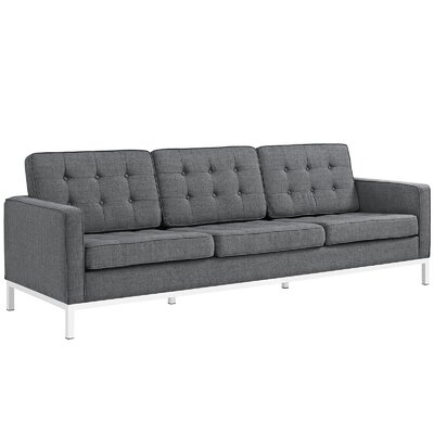 Gayatri 2 Piece Living Room Set Upholstery: Gray