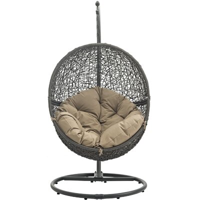 Cloak Swing Chair Color: Gray/Mocha