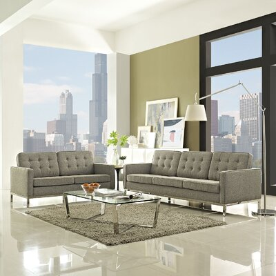Gayatri 2 Piece Living Room Set Upholstery: Oatmeal