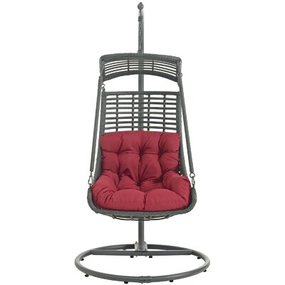 Jungle Swing Chair with Stand Color: Red