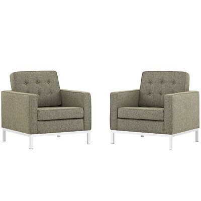Gayatri Fabric Armchair Color: Oatmeal