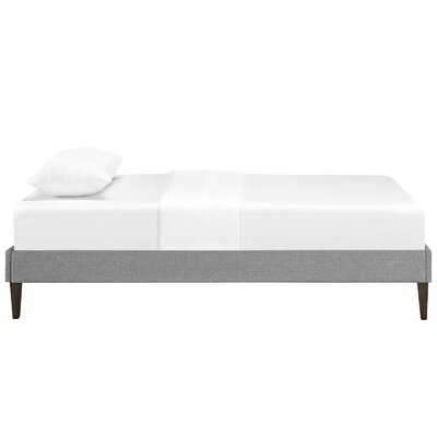 Sharon Platform Bed Size: Full, Color: Light Gray