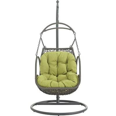 Arbor Swing Chair with Stand Color: Peridot