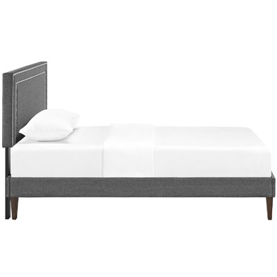 Eyre Upholstered Platform Bed Size: Full, Color: Gray