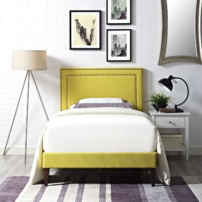 Eyre Upholstered Platform Bed Size: Twin, Color: Sunny