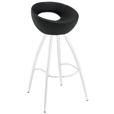Persist 28 Bar Stool Upholstery: Black