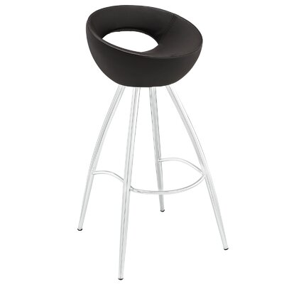 Persist 28 Bar Stool Upholstery: Brown