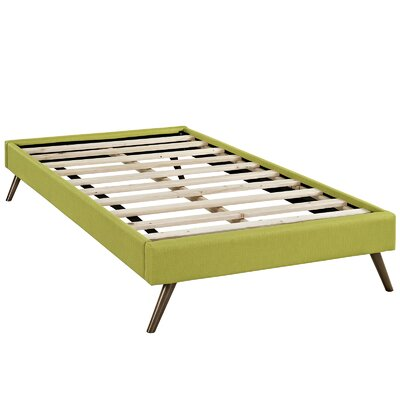 Helen Platform Bed Size: Twin, Color: Wheatgrass